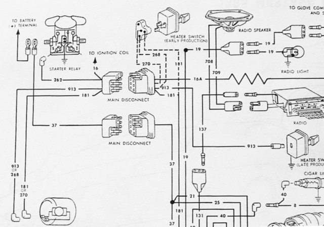 original schematic jpg at the top of the picture is the 2 speed switch i have and toward the lower middle right is the 2 speed switch described in the painless instructions